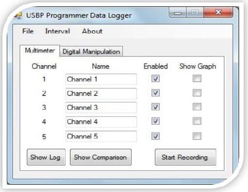 Product Data Logger Software : Usb data logger